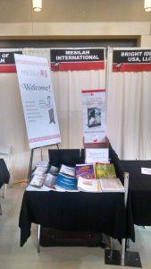 Booth at Torah Umesora convention