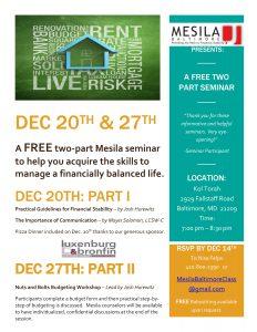 Baltimore seminar Dec. 2015