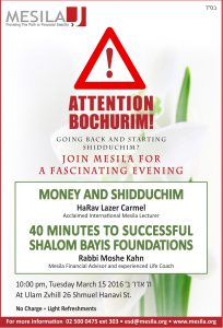 Ad for Bochurim