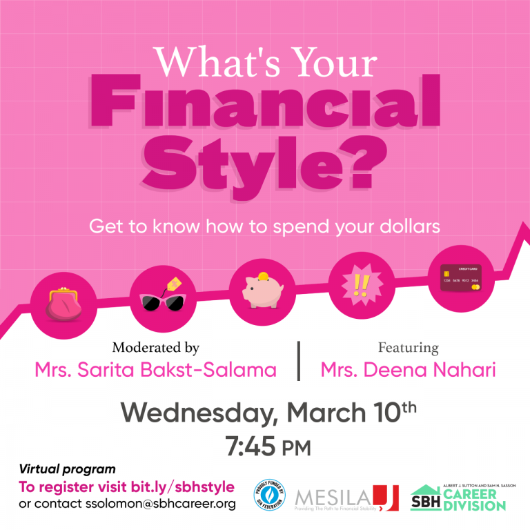 Your Financial Style- SBH – Mar 10 2021