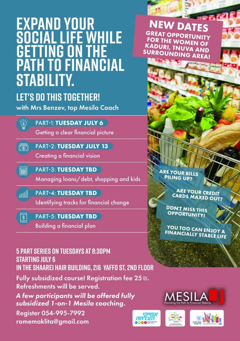 Women's 5-Part Personal-Finance Workshop Jerusalem 2021
